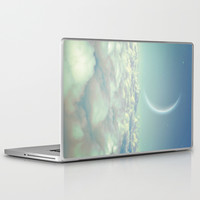 Dream Above The Clouds (Crescent Moon) Laptop & iPad Skin by Soaring Anchor Designs