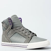 The Skytop Sneaker in Grey Leather & White