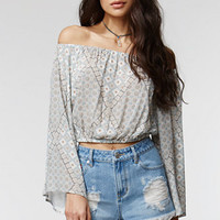 Kendall & Kylie Boxy Embroidered Pocket Shorts - Womens Shorts - Blue -