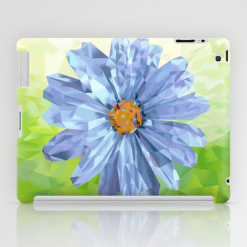 High Quality iPad CASES and SKINS - iPad Case - iPad Mini CASE - iPad Mini Skin -  Daisy Blue Diamond Floral Tablet Case and Decal