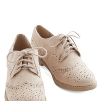 ModCloth Menswear Inspired Neutral Resources Flat