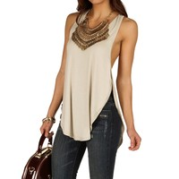 Taupe Choosing Sides Basic Tank