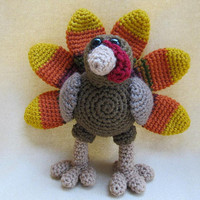 Tory the Turkey Crochet Amigurumi Pattern