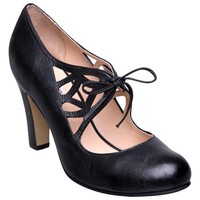 Buy Dune Serrate D-Cut Out Lace Up Court Shoes, Black online at JohnLewis.com - John Lewis