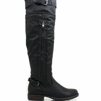 leather-riding-boots BLACK CHESTNUT TAUPE - GoJane.com