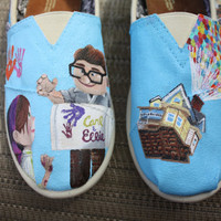 UP Original Custom Acrylic Painting for Toms Shoes