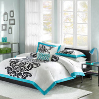 Walmart: Santorini Mini Bedding Comforter Set, Teal