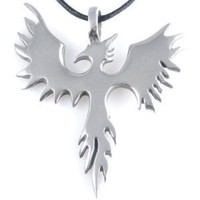 Amazon.com: Phoenix Bird Firebird Pewter Pendant Necklace: Jewelry
