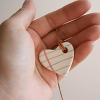 Love Small Heart Shape Notebook necklace