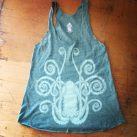 Squid on Ladies AA Tri-Lemon Racerback Tank - Available in S-L