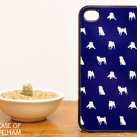 Dog iPhone Case - Pug iPhone 4 Case in Blue - Cute iPhone Cases