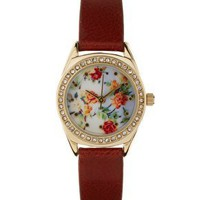 ASOS Floral Dial Watch at asos.com