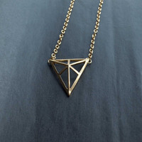 Triangle Necklace Sweater Necklace Charm Necklace
