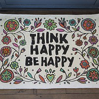 Think Happy Be Happy Art & Soul Rug From Natural Life