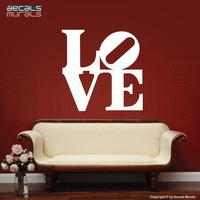 Wall Decal LOVE Art stickers Removable vinyl by decalsmurals