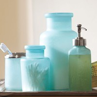 Blue Beach Glass Bath Accessories