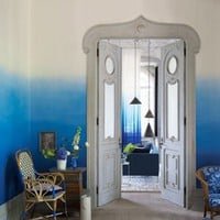 Saraille Wallpaper - Cobalt Blue 1 Roll  4 x matching panels P600