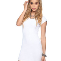 Matelassé Cap Sleeve Dress