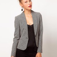 ASOS Blazer in Herringbone Print at asos.com