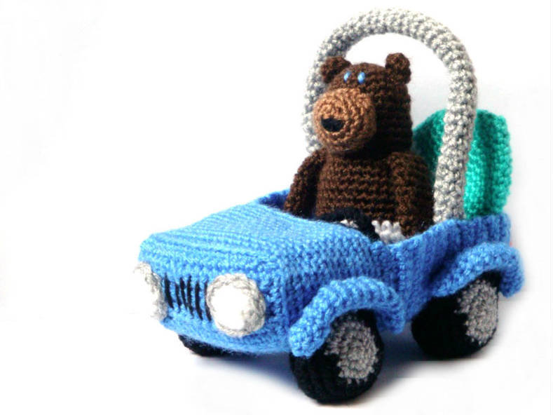 Amigurumi Pattern - Surfer Bear & Car - from ...