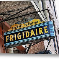 Frigidaire Sign Metal Print By John Kiss