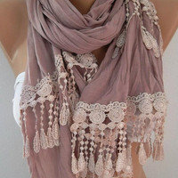 Georgeus Scarf   Elegance Scarf   Feminine Scarf   Lilac Scarf..... It made with good quality fabric.