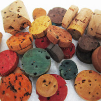 Cork Beads, Multiple Sizes, Shapes and Colors - 27 Beads