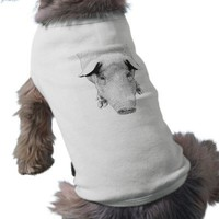 The Hog in Black and White Doggie T Shirt from Zazzle.com