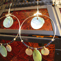 Green Discs Earrings