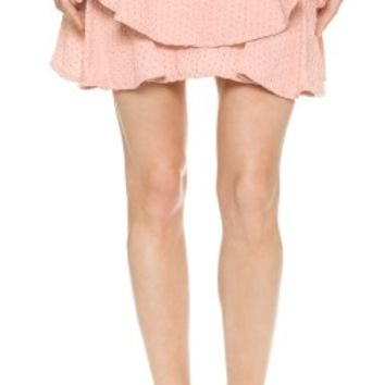 Jay Ahr Embroidered Cotton Skirt