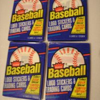1988 Fleer Vintage Basbeball Cards - 4 packs - 60 Cards & 4 Stickers - Un-Opened - Fantastic stocking stuffers