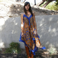 Vintage inspired Bohemian Flowy Paisley Scarf by nativerainbow