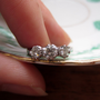 Vintage Diamond Engagement Ring 3 Stone Circa 1920s Addy by Addy
