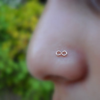 Infinity Nose Ring 14K Rose Gold Filled Handcrafted