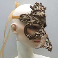 Antique Bronze Laughing Lion  resin bjd mask