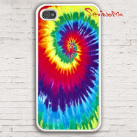 Tie-Dye iPhone 4 Case, iPhone 4s Case, iPhone 4 Hard Case, white iPhone Case