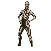 Full Body Black and White Lycra Spandex Back Zipper Human Skeleton Fancy Dress for Fancy Dress for Halloweenn Costume Unisex Zentai Suit [TWL1112260191] - £30.59 : Zentai, Sexy Lingerie, Zentai Suit, Chemise