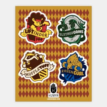 HogWeights House Stickers