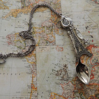 Paris Dreams - Vintage Spoon and Gemstone Necklace