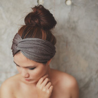 Desert Star, Extra wide Turban Twist Headband - Glister Metallic Brown