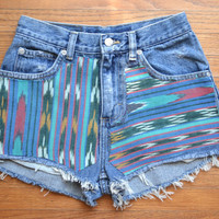 Native American cut off shorts