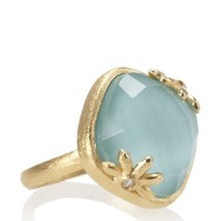 Indulgems Turqoise & Crystal 18K Gold-Plated Ring at MYHABIT