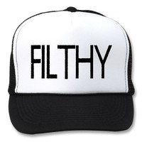 Filthy Dubstep Trucker Hat from Zazzle.com