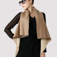 Faux Leather Drape Cape in Camel - New Arrivals - Retro, Indie and Unique Fashion