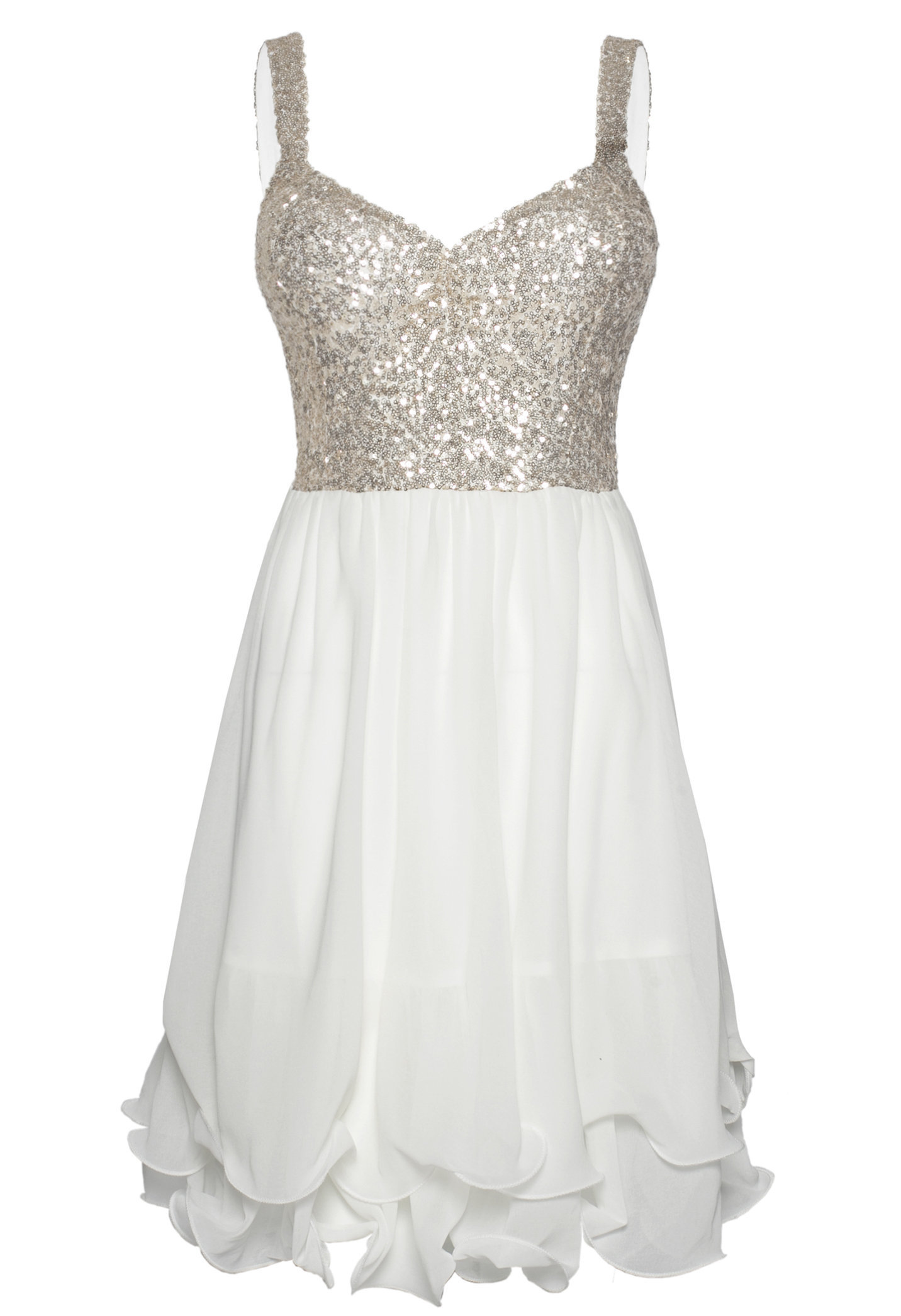 White skater dress with sequin from ustrendy party dresses - White dress party ...