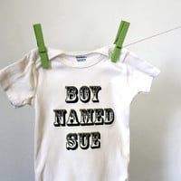Onesuit Boy Named Sue by EmiliaFaith on Etsy