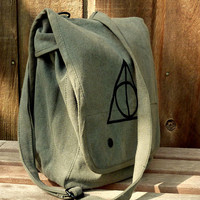 Harry Potter Deathly Hallows  Hand Painted Military by clpstudio