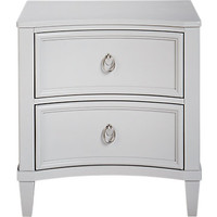 Jaclyn Place Gray Nightstand