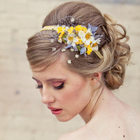 Spring flowers headband, headbands for women and weddings, wedding hair, Bridal Hair Accessory, Wedding Accessories, Bridesmaid Hair Flower