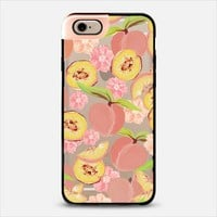 Peaches Transparent Metaluxe iPhone 6 case by Lisa Argyropoulos | Casetify